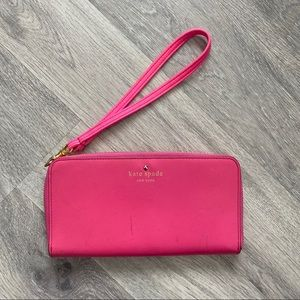 kate spade Bags - Authentic Kate Spade Hot Pink Wallet
